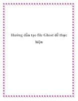 Hướng dẫn tạo file Ghost dễ thực hiện potx