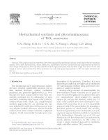hydrothermal synthesis and photoluminescence of tio2 nanowires