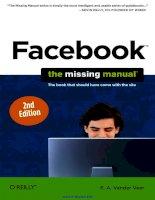 Facebook  TheMissingManual Second Edition pptx