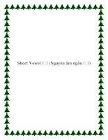 Short Vowel /ʊ/ (Nguyên âm ngắn /ʊ/) docx