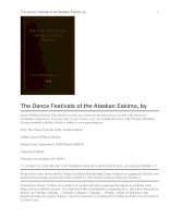 The Dance Festivals of the Alaskan Eskimo pdf
