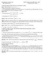 đề tham khảo ôn thi đại học môn toán đề (3)