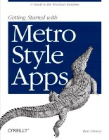 oreilly getting started with metro style apps (2012)