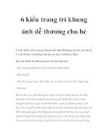 6 kiểu trang trí khung ảnh dễ thương cho bé pdf