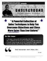 """ A Powerful Collection of Sales Techniques to Help You Overcome Objections and Close More Sales Than Ever Before! "" doc"