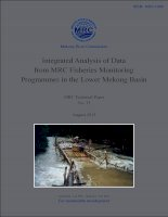 Integrated Analysis of Data from MRC Fisheries Monitoring Programmes in the Lower Mekong Basin