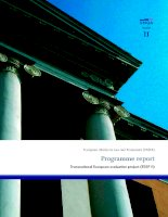 European Master in Law and Economics (EMLE): Programme report Transnational European evaluation project (TEEP II) docx