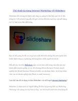 Thủ thuật áp dụng Internet Marketing với Slideshare pot