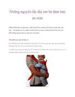 Những nguyên tắc địu em bé đảm bảo an toàn doc