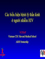Các biểu hiện bệnh lý thần kinh ở người nhiễm HIV docx