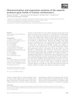 Báo cáo khoa học: Characterization and expression analysis of the aspartic protease gene family of Cynara cardunculus L. docx
