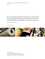 ON THE TRANSFORMATION PROCESSES OF THE GLOBAL PULP AND PAPER INDUSTRY AND THEIR IMPLICATIONS FOR CORPORATE STRATEGIES – A European perspective pot