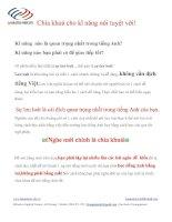 Chìa khoá cho kĩ năng nói tuyệt vời! pdf