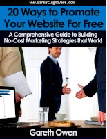 20 Ways to Promote Your Website for Free docx