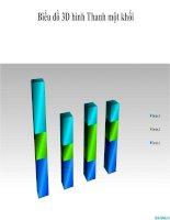 biểu đồ powerpoint hình thanh 3d một khối, 3d bar chart