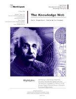 The Knowledge Web: People Power – Fuel for the New Economy pot