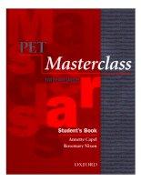 pet masterclass student's book