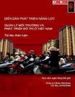 Quản lý môi trường và phát triển đô thị ở Việt Nam potx