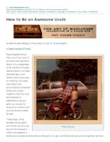 How to Be an Awesome Uncle