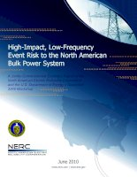 High-Impact, Low-Frequency Event Risk to the North American Bulk Power System ppt