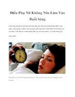 Điều Phụ Nữ Không Nên Làm Vào Buổi Sáng pdf