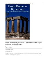From Rome to Byzantium: Trade and Continuity in the First Millennium AD pptx