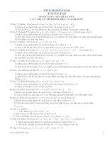 99 bài toán liên quan đến cực trị và tính đơn điệu của hàm số