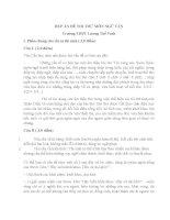 Đáp án đề thi thử môn văn năm 2014  của trường Lương Thế Vinh
