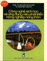 Công nghệ sinh học và ứng dụng vào phát triển nông nghiệp nông thôn pdf