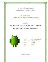 tiểu luận nghiên cứu quá trình phát triển của hệ điều hành android
