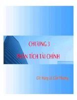 bài giảng lập và phân tích dự án - chương 3 phân tích dự án - lê hoàng cẩm phương