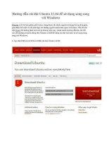 Giáo an Bài giảng: Công nghệ thông tin về hướng dẫn cài đặt ubuntu 11 để sử dụng song song với windows