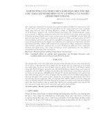 ẢNH HƯỞNG CỦA NHIỆT ĐỘ VÀ ĐỘ MẶN ĐẾN TỐC ĐỘ LỌC TẢO, CHỈ SỐ ĐỘ BÉO VÀ TỶ LỆ SỐNG CỦA NGHÊU (MERETRIX LYRATA) pptx