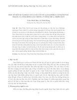 MỘT SỐ KẾT QUẢ KHẢO SÁT LOÀI CÂY SƯA (DALBERGIA TONKINENSIS PRAIN) VÀ TÌNH HÌNH GÂY TRỒNG Ở TỈNH THỪA THIÊN HUẾ docx