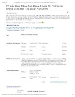 mẫu CV bằng tiếng anh hạng 3 cuộc thi hồ sơ ấn tượng