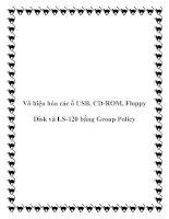 Vô hiệu hóa các ổ USB, CD-ROM, Floppy Disk và LS-120 bằng Group Policy potx
