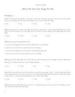 Một số bài toán dao động cơ học