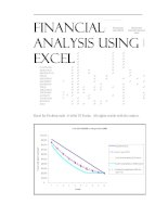 finance - financial analysis using excel