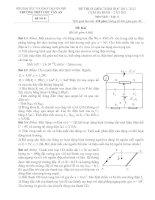 Đề thi Olympic Tây Hồ năm 2012 môn Vật lý 11 pdf