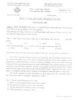 Bộ đề thi Anh văn tuyển sinh thạc sĩ đại học Cần Thơ