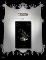Cerium Một loại đất hiếm có nhiều ứng dụng trong cuộc sống