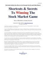 shortcuts & secrets to winning the stock market game - steve mitchell