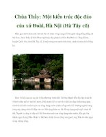Chùa Thầy: Một kiến trúc độc đáo của xứ Đoài, Hà Nội (Hà Tây cũ) potx