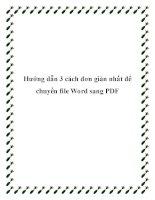 Hướng dẫn 3 cách đơn giản nhất để chuyển file Word sang PDF doc