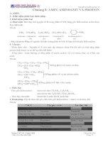 Tóm tắt lý thuyết hoá học 12Chương 3: AMIN, AMINOAXIT VÀ PROTEINA. AMIN. pptx