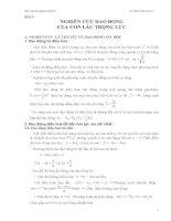 Luận văn báo cáo thí nghiệm vật lý nghiên cứu dao động của con lắc trọng lực