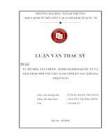 Tự do hóa tài chính - kinh nghiệm quốc tế và giải pháp đối với Việt Nam thời kỳ sau khi gia nhập WTO