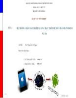 Luận Văn Tốt Nghiệp: Ứng dụng GPS trên hệ điều hành Android và iOS doc