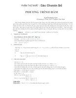Tổng hợp các chuyên đề bồi dưỡng học sinh giỏi môn toán PTTH