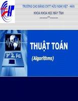 Giáo án - Bài giảng học tập công nghệ thông tin lập trình bằng thuật toán chia để trị và ứng dụng của thuật toán